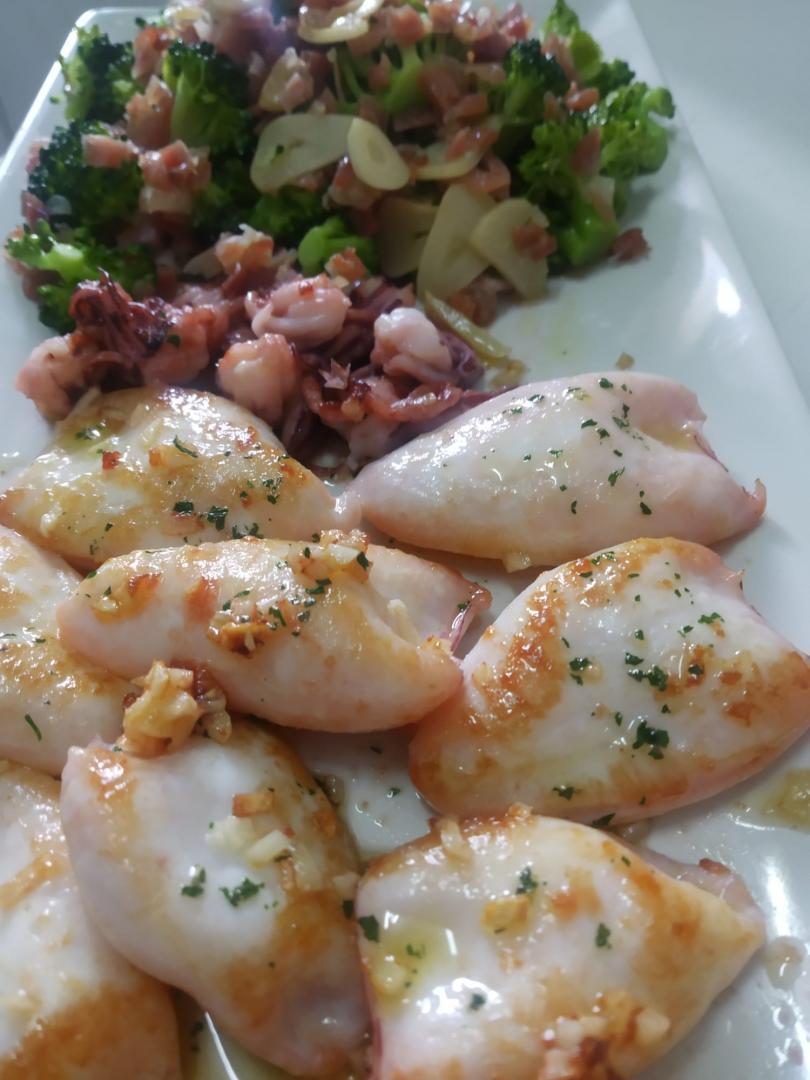 ¿Nos enseñas tu receta? Chipirones a la plancha con brócoli salteado - Manuel Cuadrado