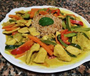 ¿Nos enseñas tu receta? Pollo con verduras al curry - Raul Bracho Sotelo