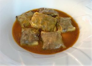 ¿Nos enseñas tu receta? Raviolis de rabo de ternera con cremoso de patata y su jugo - Eugenia